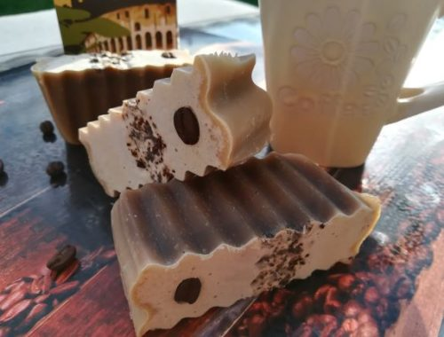 kávészemes hullámos szappan